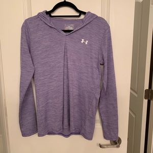Like new lightweight purple under armour hoodie